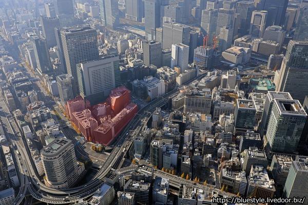 日本橋一丁目中地区第一種市街地再開発事業 建設地の空撮