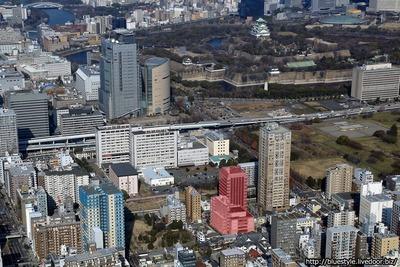(仮称)グランドメゾン内久宝寺町2丁目タワー計画の計画地の空撮