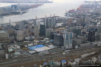 山手線新駅建設地あたりの空撮