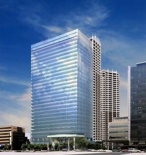 目黒駅前地区第一種市街地再開発事業の完成予想図