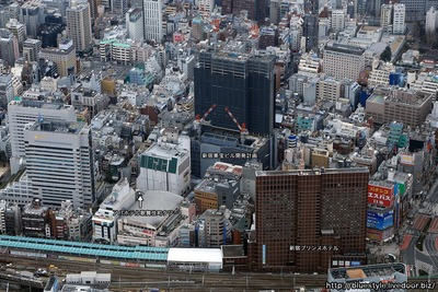 歌舞伎町方面の空撮