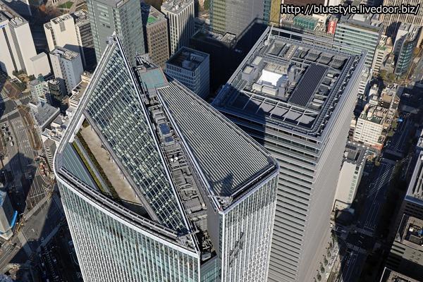 虎ノ門ヒルズ ビジネスタワーの空撮