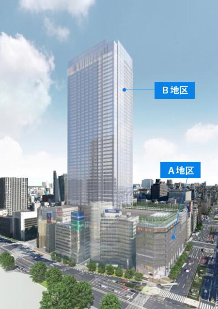 東京駅前八重洲一丁目東B地区第一種市街地再開発事業 外観イメージ