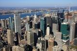 エンパイアステートビルから眺める超高層ビル群