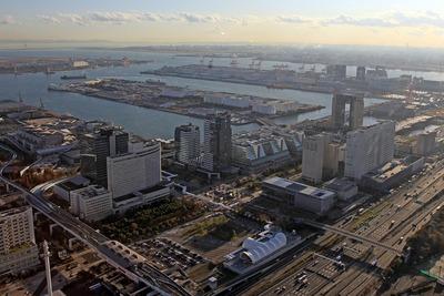 東京ビックサイト周辺の空撮
