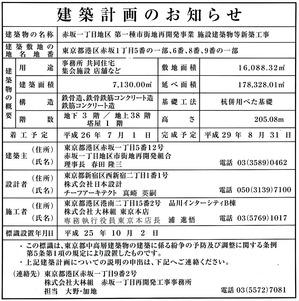 赤坂インターシティ AIR 建築計画のお知らせ