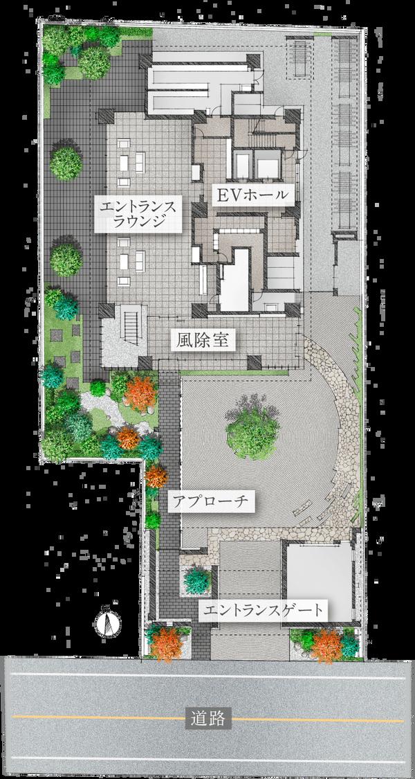 アトラスタワー白金レジデンシャル エントランスラウンジ完成予想CG