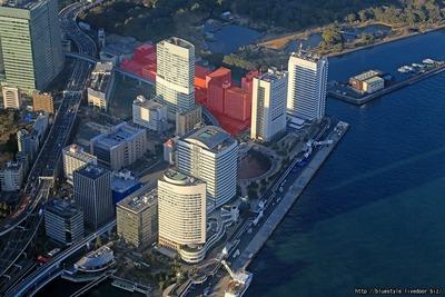 竹芝ウォーターフロント開発計画の計画地の空撮
