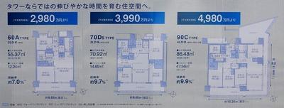 パークタワー東雲の間取り図と価格