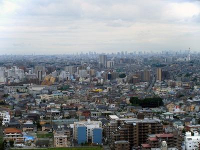 ハーモネスタワー松原から東京方面の景色