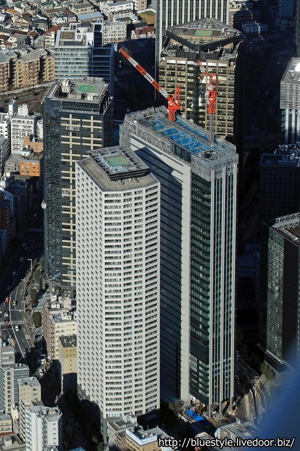 住友不動産新宿セントラルパークタワーの空撮