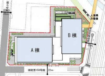 大手町二丁目地区第一種市街地再開発事業 配置図