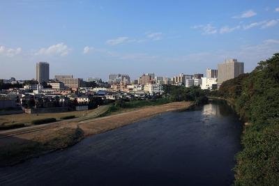 仲の瀬橋から見た仙台の広瀬川