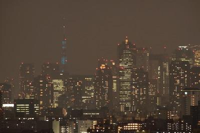 ブルーに光る東京タワー