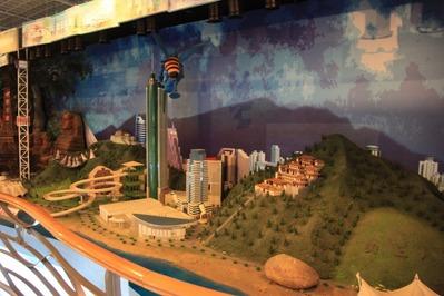 地王ビルの展望室内