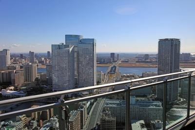 勝どきビュータワーから晴海方面の眺め