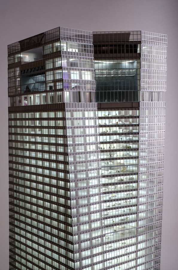 虎ノ門ヒルズ ステーションタワー 完成模型