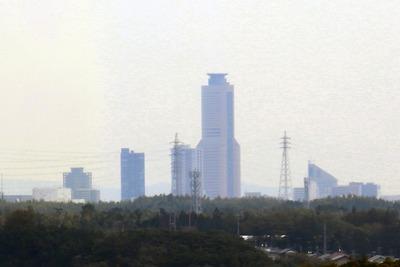 浜名湖ガーデンパークの展望塔から見た浜松市街