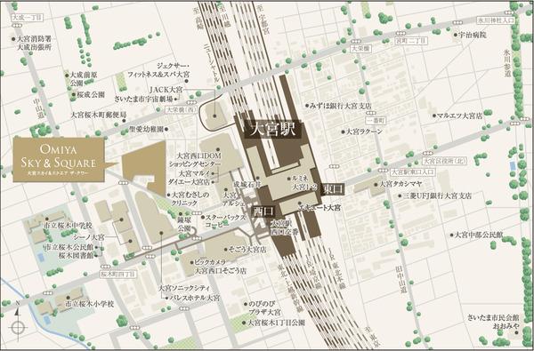 大宮スカイ&スクエア ザ・タワー 現地案内図