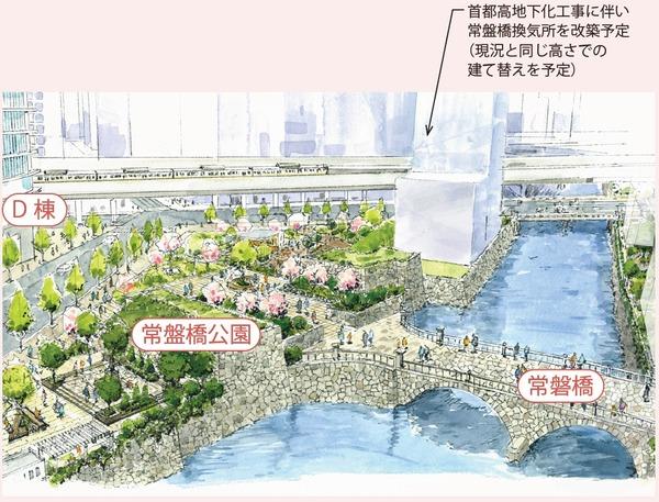 大手町地区(D-1街区) 首都高地下化に向けた協力