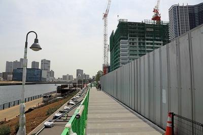 東電堀沿いの遊歩道