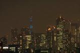 青色東京タワー 超望遠