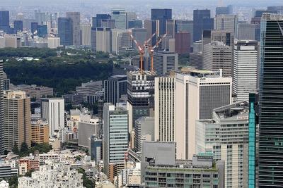 六本木ヒルズから見た赤坂インターシティ AIR