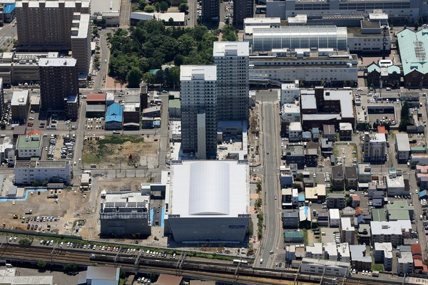 ザ・タワーズフロンティア札幌の空撮