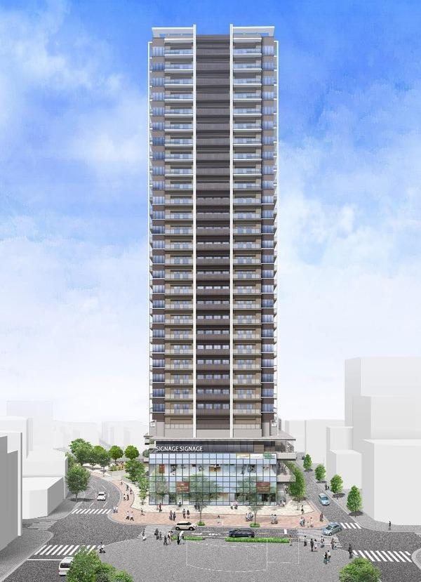 平井五丁目駅前地区第一種市街地再開発事業 完成予想図