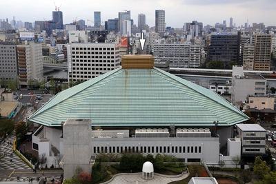 江戸東京博物館から見た国技館方面