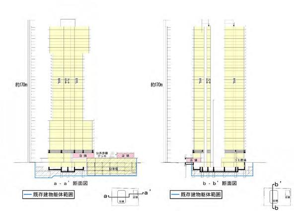 (仮称)相模大野4丁目計画 断面図