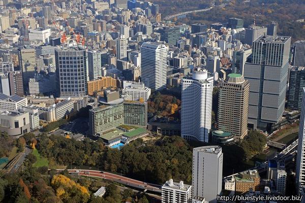 赤坂見附の空撮