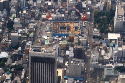 浅草タワーの空撮