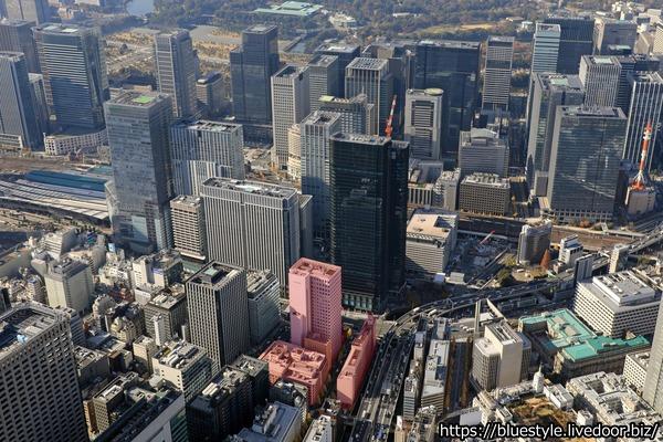 八重洲一丁目北地区第一種市街地再開発事業の空撮