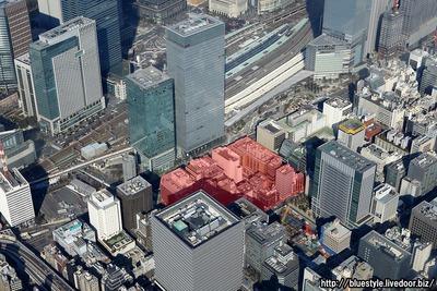 八重洲二丁目中地区第一種市街地再開発事業の計画地の空撮
