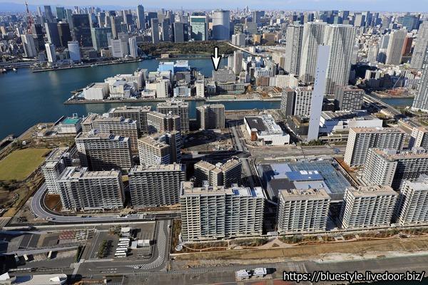豊海地区第一種市街地再開発事業の空撮