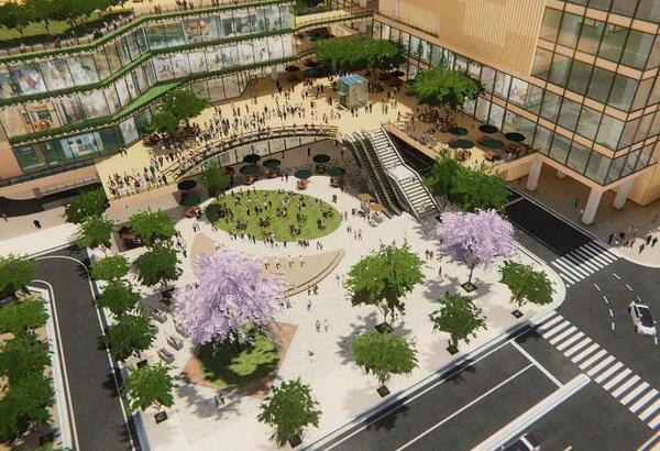 柏駅西口北地区市街地再開発事業 交流広場イメージ