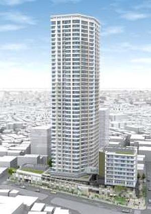 武蔵小山駅前通り地区第一種市街地再開発事業の完成予想図