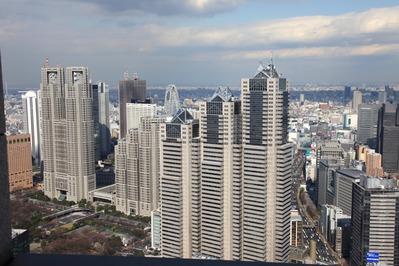 東京オペラシティから新宿超高層ビル群