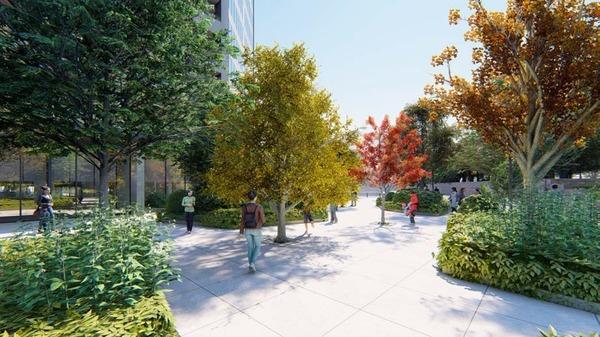 (仮称)赤坂七丁目2番地区再開発事業 区道873号線沿いのイメージ