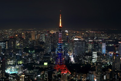 六本木ヒルズから東京タワー夜景