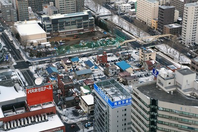 JRタワーから見た北8西1地区第一種市街地再開発事業