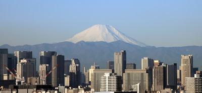 船堀駅前トキタワーから富士山方面の眺め