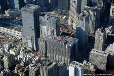 新鉄鋼ビルの空撮