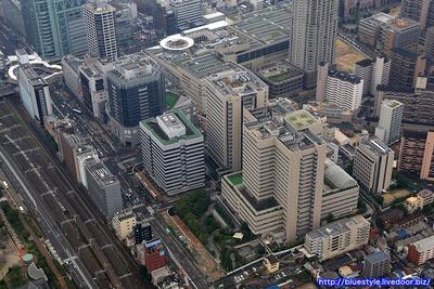 大阪市立大学医学部の空撮