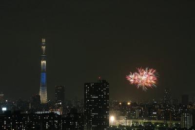 亀戸地区夏まつりの打ち上げ花火