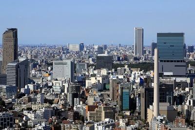 恵比寿ガーデンプレイスから見た渋谷方面