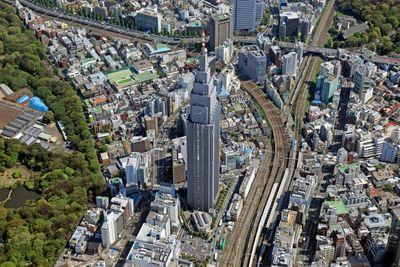 NTTドコモ代々木ビルの空撮