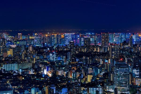 渋谷スカイから品川方面の夜景