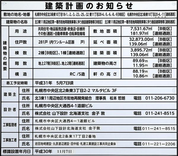 プレミストタワーズ札幌苗穂 ブライトゲート 建築計画のお知らせ